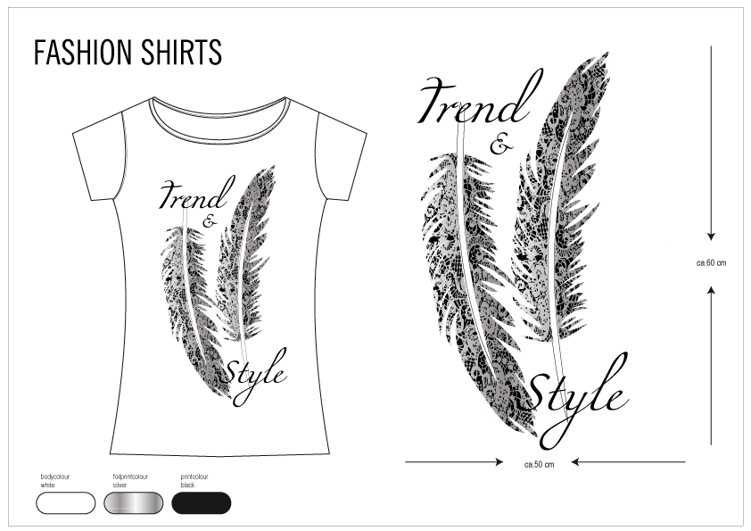 Textildesign - Fashionshirt with Panelprint